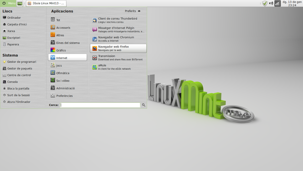 Linux Mint 13 with the MATE desktop environment.png